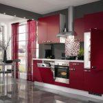 bucatarie moderna rosie (1)