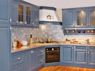 bucatarie vintage albastru deschis