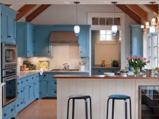 bucatarie vintage albastru sters