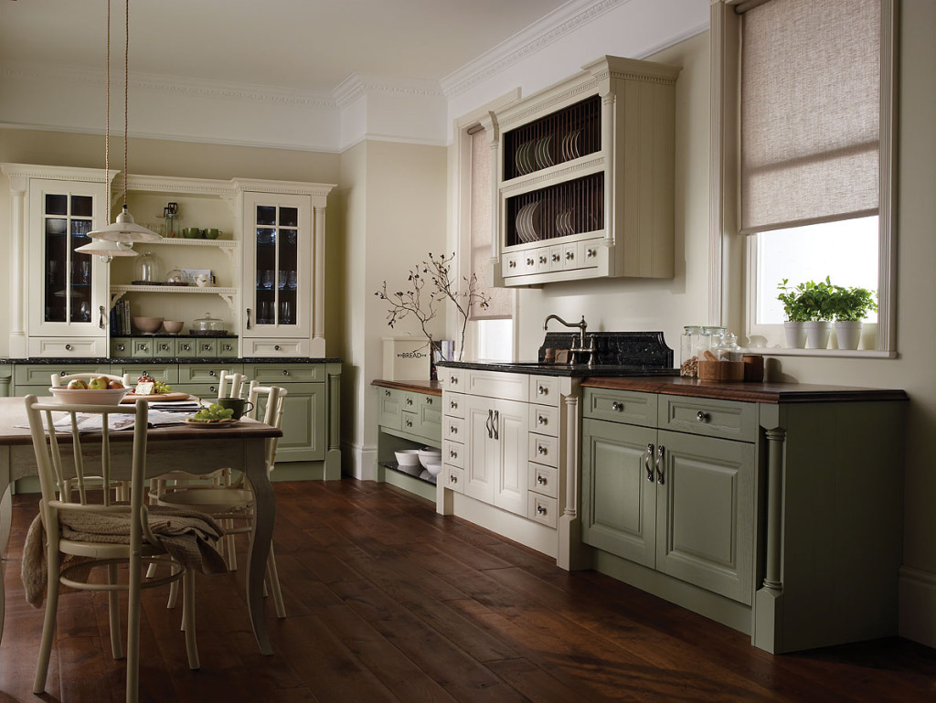 bucatarie vintage culori calde
