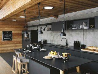 mobila bucatarie negru mat