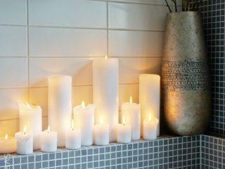 lumanari electice pentru baie