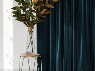 draperie catifea verde