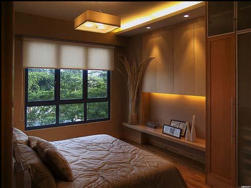 mobilier nuanțe asemănătoare pereți