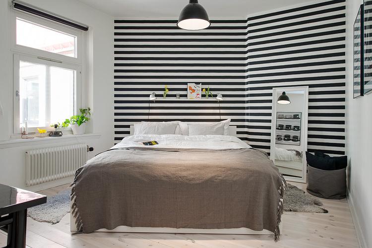 tapet orizontal dormitor