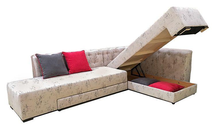 canapea cu spațiu de depozitare