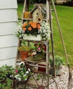 amenajare gradina stil rustica